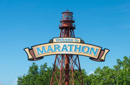 Welcome to Marathon, Florida sign