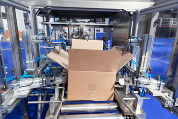 Automatic cardboard package box packaging machine