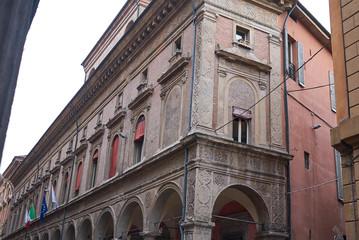 Bologna, Italy - December 18, 2018 : View of Palazzo Malvezzi Campeggi