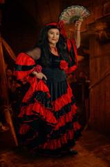Portrait of gypsy woman dancer