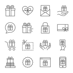 Gifts vector icons set
