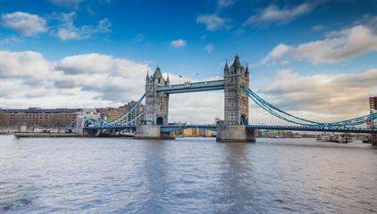 Tower Bridge London, River Thames UK - Stock image - Stock image
