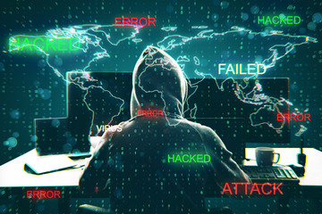 Hacking and virus concept