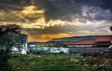Landscape of Bademler Village in Izmır in Aegean District. The only village without any worship place in Turkey.