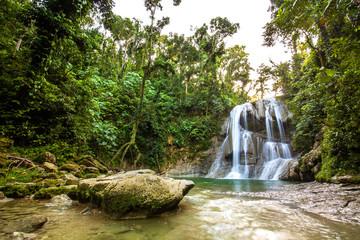 Beautiful Gozalandia Waterfall in San Sebastian Puerto Rico