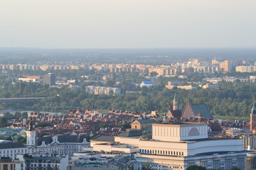 Top view of Warsaw
