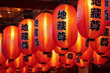 Rote Lampions zum chinesischen Neujahrsfest