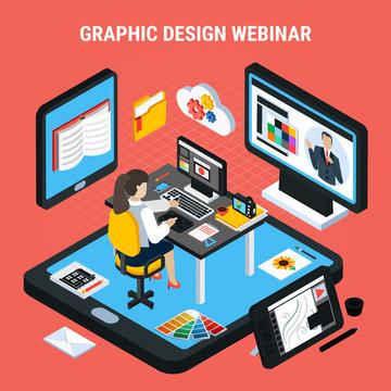 Graphic Design Webinar Concept
