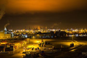Hamburgerhafen bei Nacht