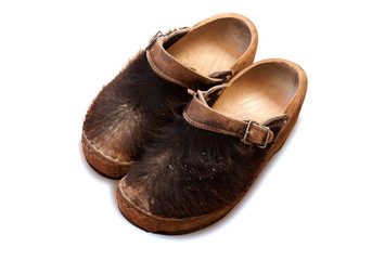 Famous traditional Dutch wooden clog