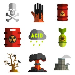 image objects polluting the environment, nuclear and biological weapons