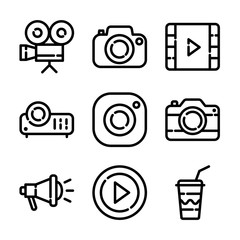 Photo & Video Icon Set
