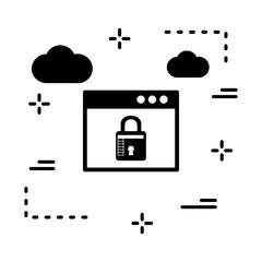 vector browser lock icon