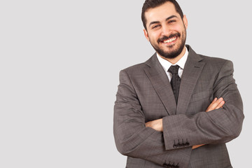 businessman  at office with suit and tie