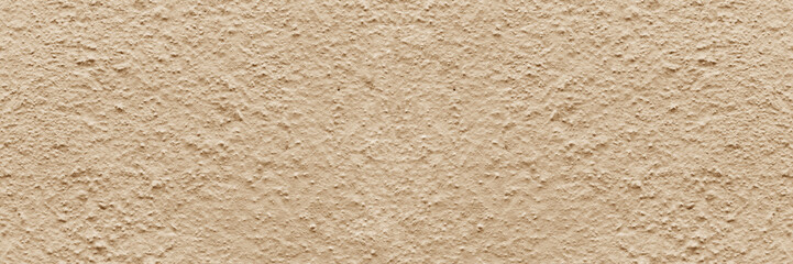 Panorama beige rough textured concrete background. copy space, text box, background for lettering, background for calligraphy