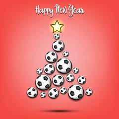 Christmas tree from soccer balls