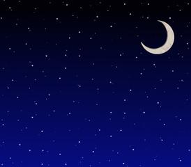 三日月の星空