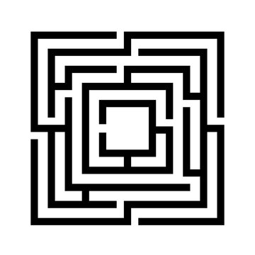 Labyrinth game vector icon
