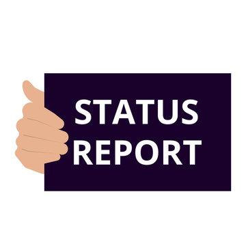 text Status Report.