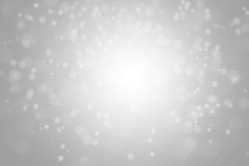 white snow on gradient silver background, white bokeh on silver background, glitter extended on background,  snowy gray background, silver bokeh wallpaper