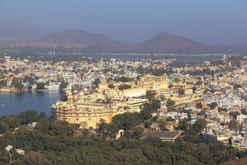 Udaipur City in Rajasthan state of India