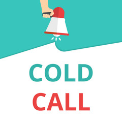 Word writing text Cold Call.