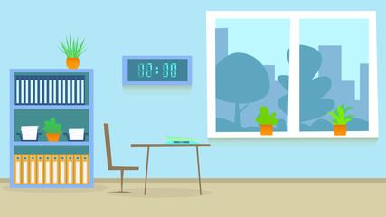 Medical Consultation Hospital Room. Cartoon Vector