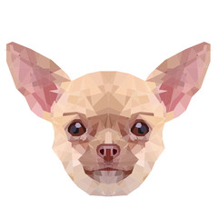 Puppy Chichuahua | Low-poly Art