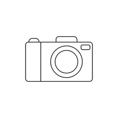 Camera Icon in line style. Camera symbol for your web site design, logo, app, UI. Vector illustration.