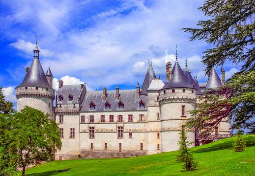 france, loire castles : chaumont castle, outside