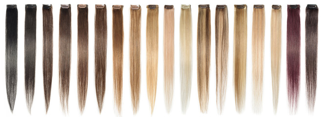 multiple colors of clip in human hair extensions