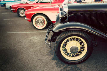 Fotomurales - Classic cars public display