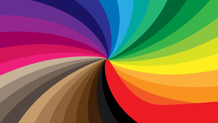 Abstract background in the form of a swirling spiral of all colors of the rainbow. EPS10
