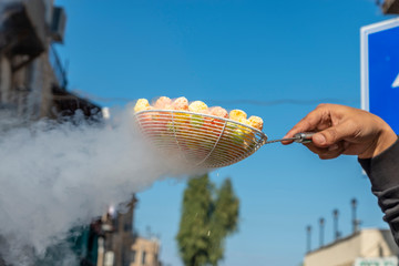 Dragon breath liquid nitrogen dipped cereal