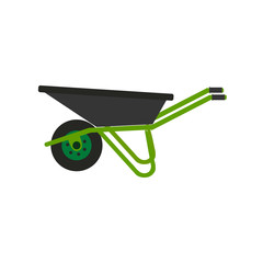 Wheelbarrow icon. Vector illustration. Concept of gardening