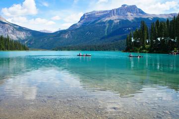 Fotorolgordijn Canada ヨーホー国立公園のエメラルド湖