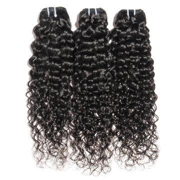 deep wave curly wet black human hair weaves extensions bundles