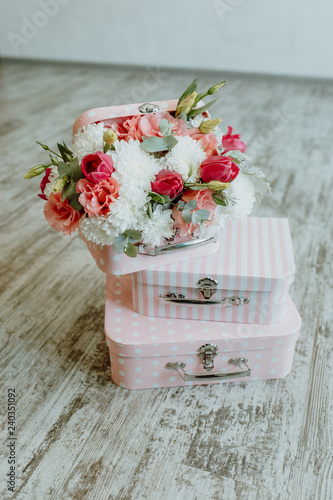 Beautiful Gift Wooden Decorations With Flowers For Wedding And Other