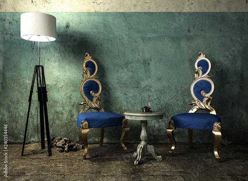 Aussergewohnliche Stuhle Im Wartebereich Stock Photo And Royalty