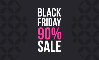 Trendy promo banner for black friday sale