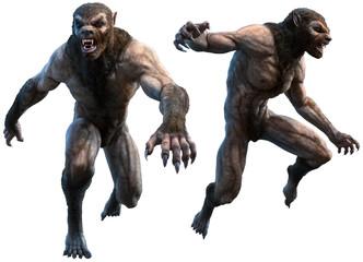 Werewolves 3D illustration