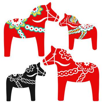 Red dala horse - national symbol of Sweden from Dalarna