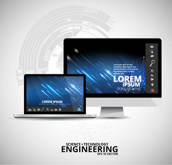 Abstract technology concept background, vector illustration