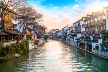 Ancient Architectural Landscape of Qinhuai River in Nanjing..