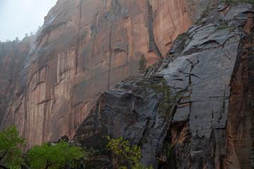 Cliffs in the Rain