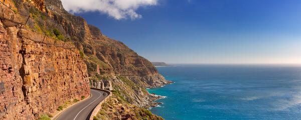 Chapman's Peak Drive near Cape Town in South Africa