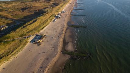 Strand von Callantsoog in den Niederlanden an der Nordsee