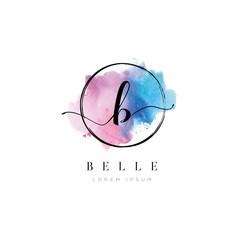Water Color Letter Type B Logo
