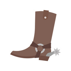 Cowboy boot. Isolated on white background. Vector art. Vector illustration. EPS 10.