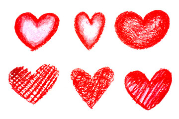 Hand drawn heart . Design elements for Valentine's day concept .